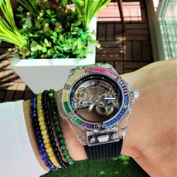 HUBLOT UNİCO SHAPPHİRE RAİNBOW