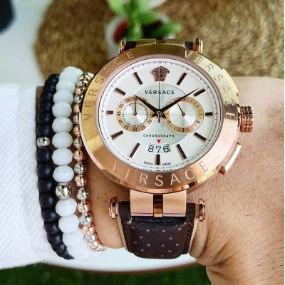VERSACE ROSE GOLD-WHİTE